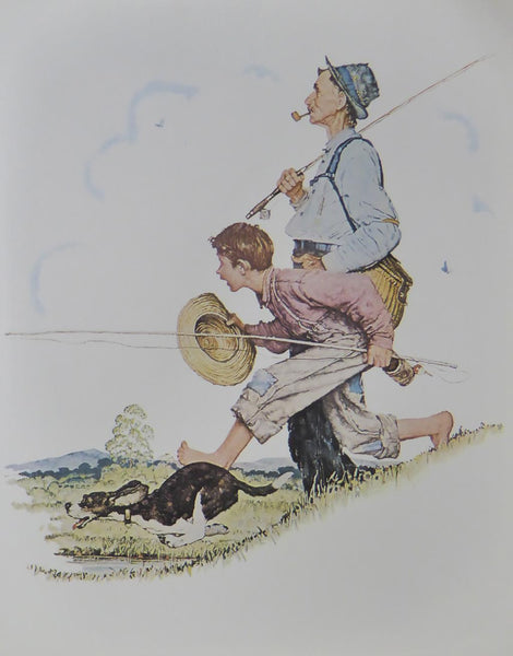 "Norman Rockwell ""Fishing"""