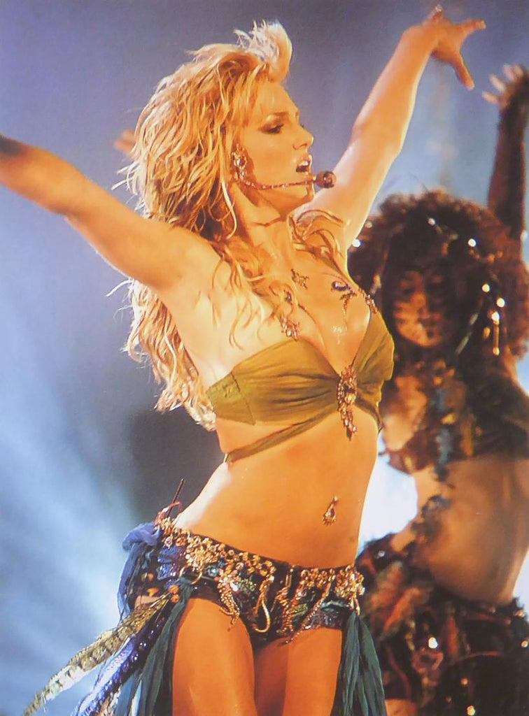 Britney Spears in stage outfit