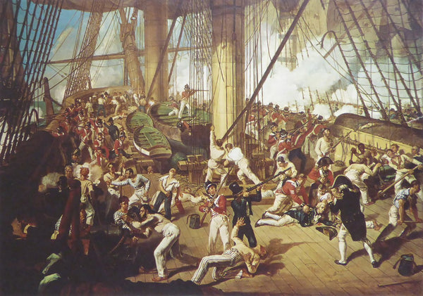 Nelson mortally wounded at Trafalgar