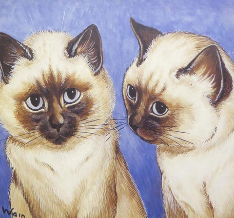 2 Siamese cats   Louis Wain