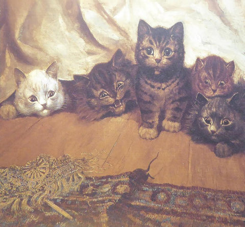 5 Cats under a valance   Louis Wain