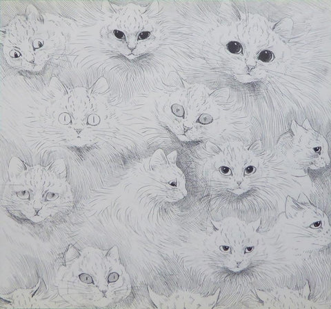 15 sketched cats   Louis Wain
