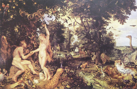 Adam and Eve in Paradise (Paradise with the Fall of Man)  Peter Paul Rubens and Jan Brueghel