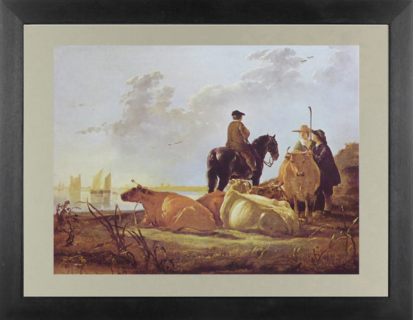 Peasants and Cattle by the River Merwede Aelbert Cuyp