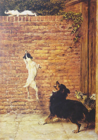 A blockade runner (Cat and Dogs) Briton Riviere