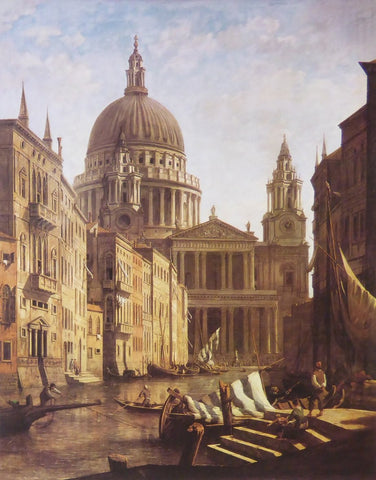 Capriccio with St Paul's Cathedral beside a Venetian Canal William Marlow