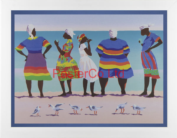 "Seabirds - William Cantwell - Galaxy of Graphics 1995 - Framed Print - 12""H x 16""W"