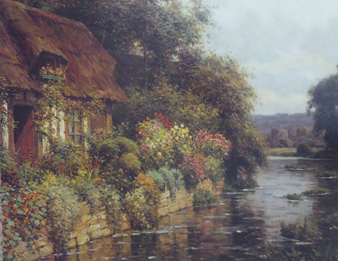 A Thatched Cottage in Summer Louis Aston Knight
