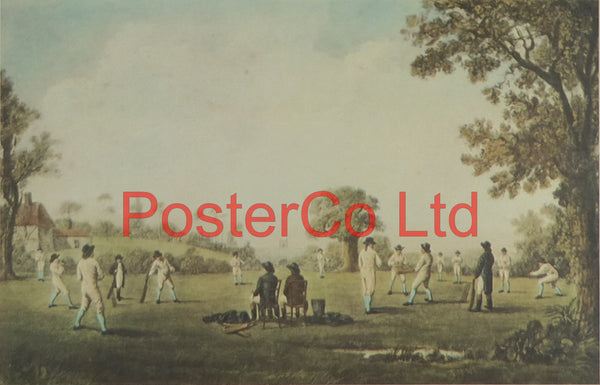"A Match At Hambledon 1777 - Ariel Press 1985 - Framed Print - 12""H x 16""W"