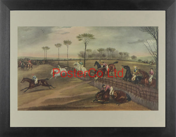 "Vale of Aylesbury Steeplechase (1) - Francis Calcraft Turner - Framed Print - 12""H x 16""W"