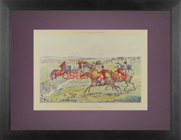 "Creeping a Finish (Hunting Qualifications) - Henry Thomas Alken - Framed Print - 12""H x 16""W"
