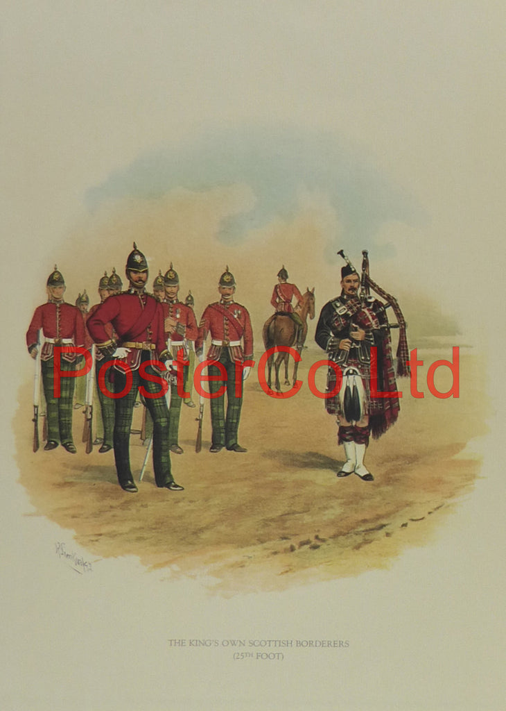 "Kings Own Scottish Borderers 25th foot - Simpkins - Framed Print - 16""H x 12""W"