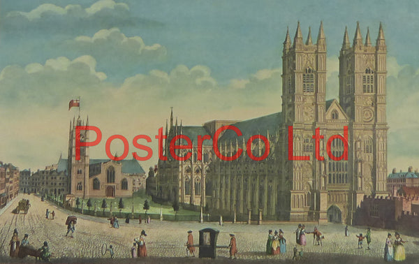 "Westminster Abbey & St Margarets Church - Thomas Hosmer Shepherd - Framed Print - 12""H x 16""W"