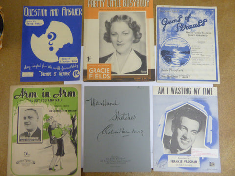 Collection of Vintage Sheet Music (Some exam books), 33 Items