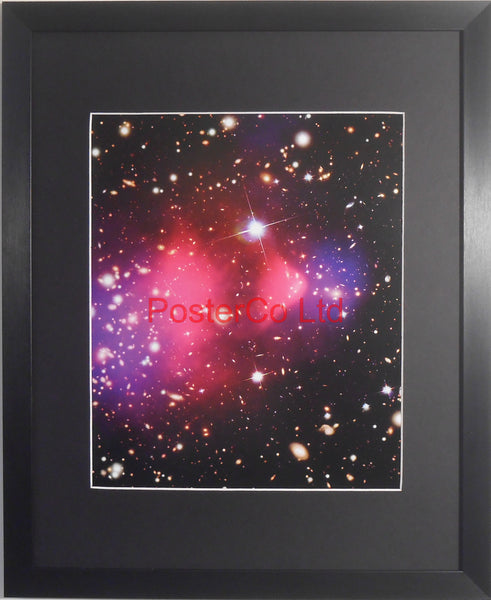 "Bullet Cluster - Hubble Telescope shot - Framed Picture - 20""H x 16""W"