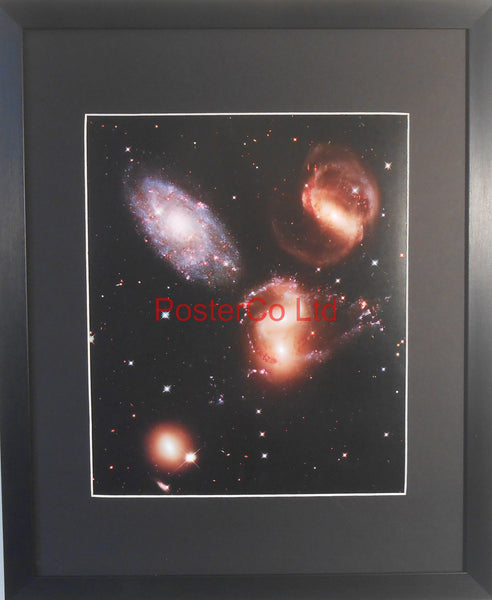 "Stephan's Quintet - Hubble Telescope shot - Framed Picture - 20""H x 16""W"