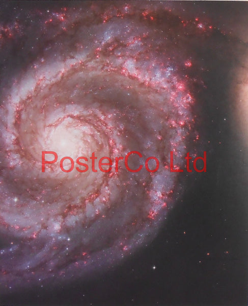 "Whirlpool Galaxy M51 - Hubble Telescope shot - Framed Picture - 20""H x 16""W"