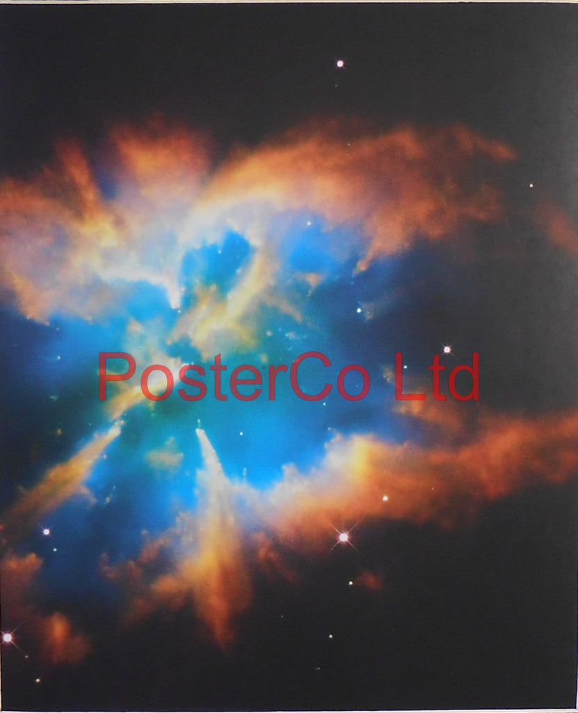 "Hubble Telescope shot - Unknown Star System Framed Picture - 20""H x 16""W"
