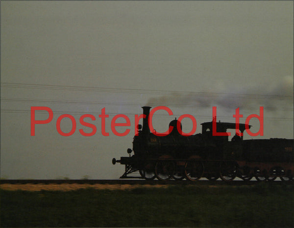 "0-6-0 Train Engine - Framed Picture - 11""H x 14""W"