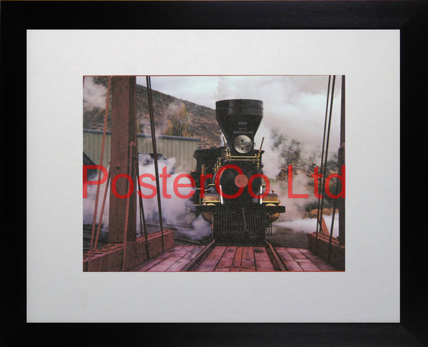 "The legendary ""American"" Steam Train - Framed Picture - 11""H x 14""W"