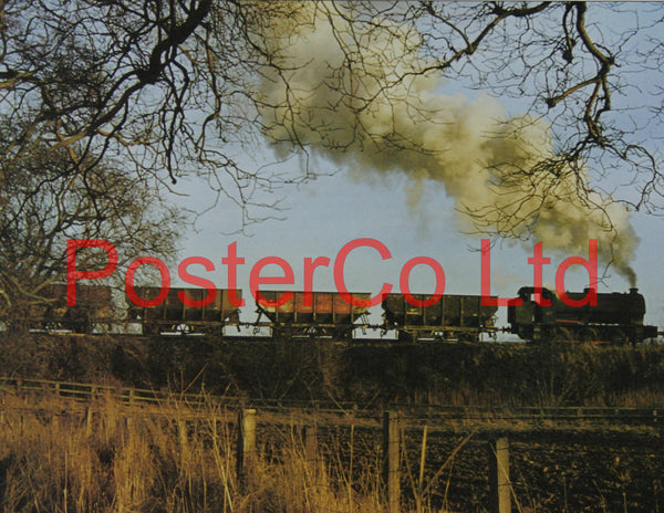 "0-6-0 Saddle Tanker - Steam Train - Framed Picture - 11""H x 14""W"