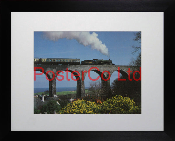 "Great Western train - Steam Train - Framed Picture - 11""H x 14""W"