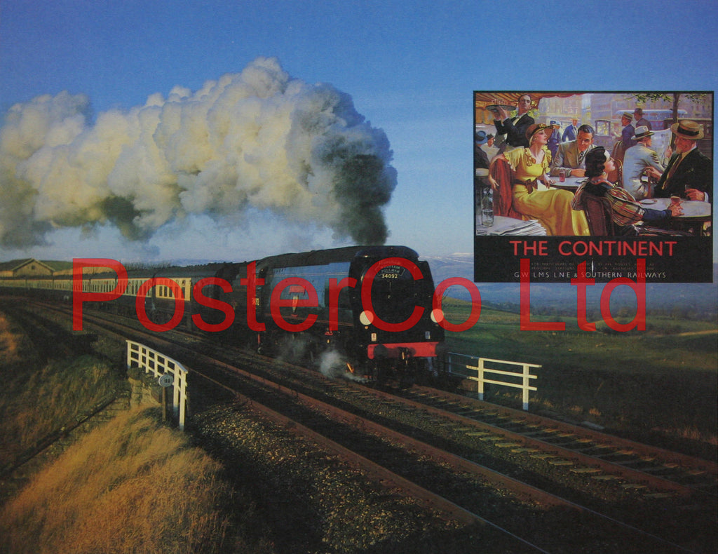 "Pullman train 30492 - Steam Train - Framed Picture- 11""H x 14""W"