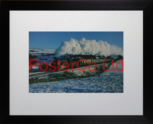 "777 4-6-0 ""Santa Claus"" special - Steam Train - Framed Picture - 11""H x 14""W"