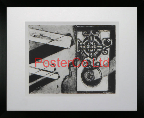 "Monochrome Abstract - Anon - (Original Issue) - Framed Painting - 20""H x 28""W"