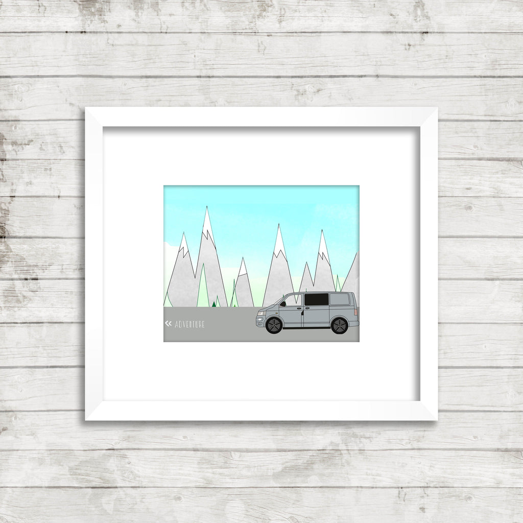 Bespoke VW Transporter Adventure Print. Rag & Bone Creative. Designed for you.