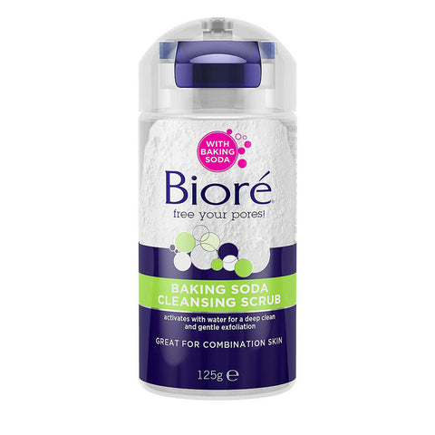 Bioré Baking Soda Cleansing Scrub for deep clean and gentle exfoliation - 125g