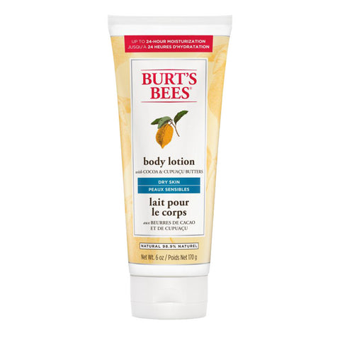 Burt's Bees Richly Replenishing Cocoa & Cupuacu Butters Body Lotion for Dry, Scaly Skin - 170g