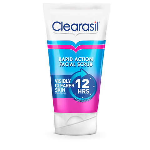 Clearasil Rapid Action Facial Scrub to prevent spots - 125ml