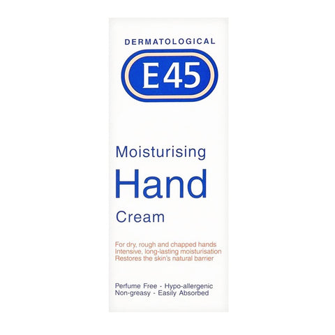 E45 Moisturising Hand Cream for Dry, Rough and Chapped Hands - 50ml