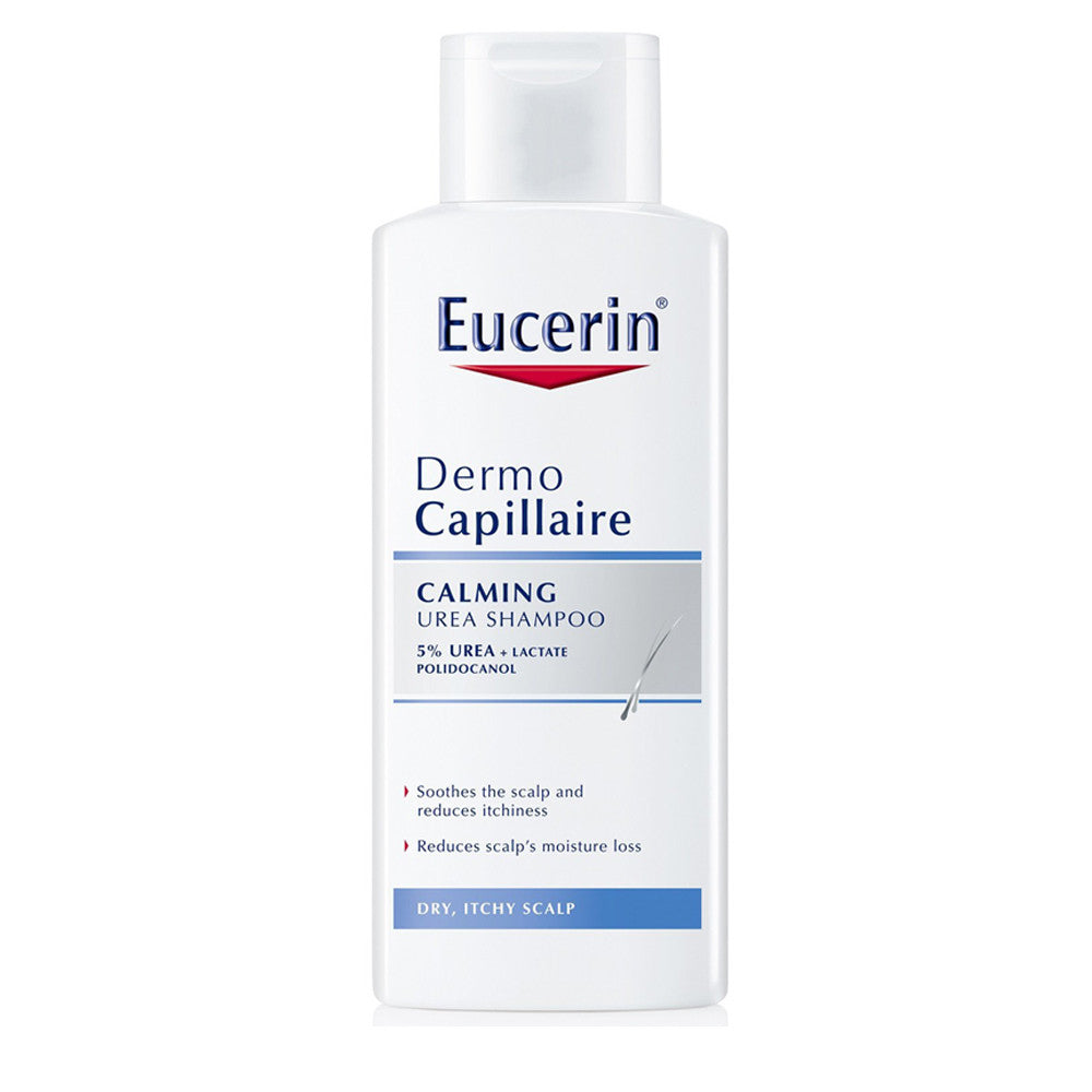 Eucerin DermoCapillaire Calming Urea Shampoo to relieve dryness, itchiness, and flaking - 250ml