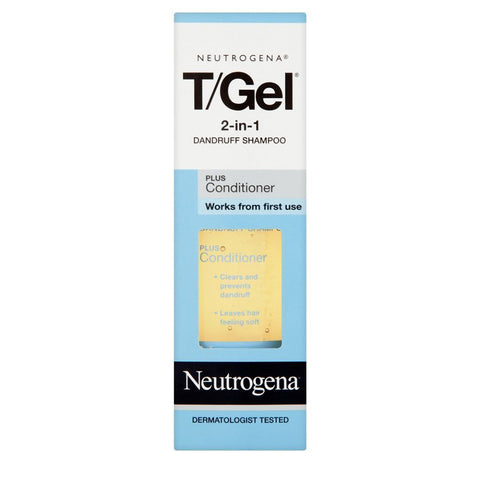 Neutrogena T/Gel 2-in-1 Dandruff Shampoo Plus Conditioner - 250ml, 125ml