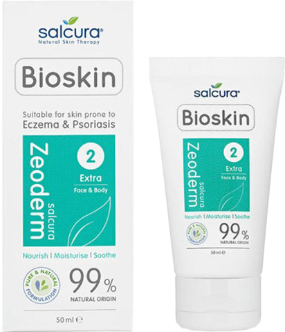 Salcura Bioskin Zeoderm Repair Moisturiser for Very Dry Skin, Psoriasis and Dermatitis - 50ml