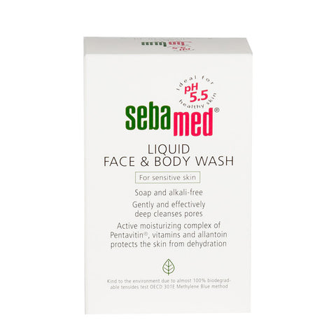 Sebamed Liquid Face & Body Wash for dry skin - 1000ml, 200ml
