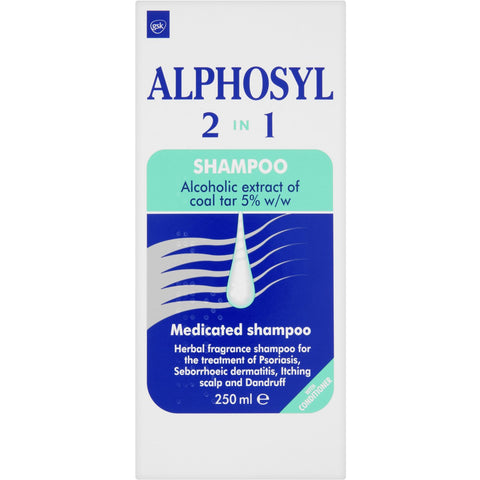 Alphosyl 2-in-1 Shampoo for Scalp Psoriasis & Itchy, Flaky Skin - 250ml