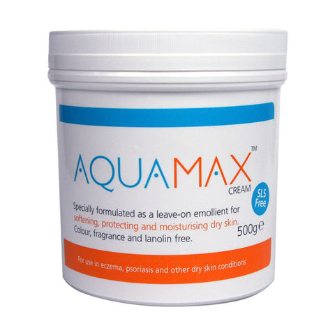 Aquamax Cream for dry skin conditions (eczema & psoriasis etc.) - 500g, 100g
