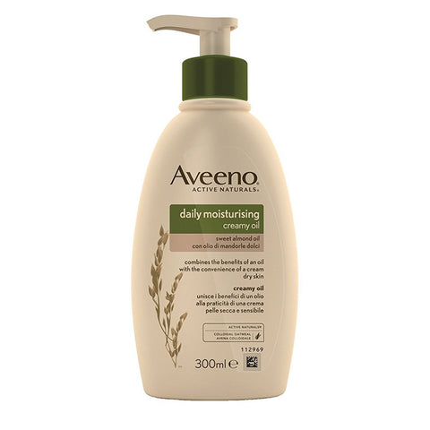 Aveeno Moisturising Creamy Oil with Almond and Colloidal Oatmeal - 300ml