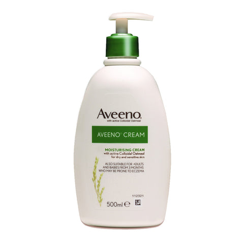 Aveeno Cream (moisturising cream) for Dry and Sensitive skin & Eczema - 500ml