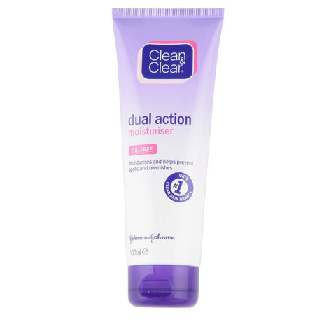 Clean and Clear Essentials Dual Action Moisturiser for Treatment of Spots -100ml
