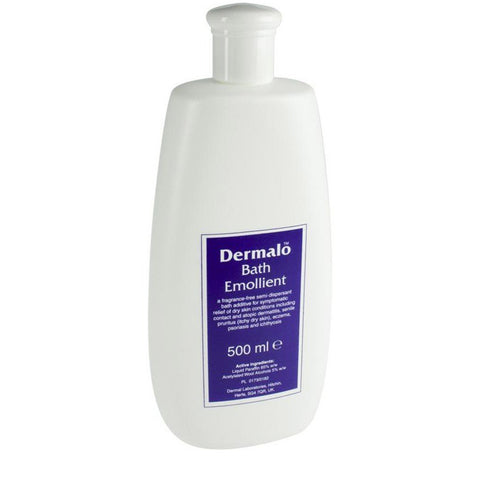Dermalo Bath Emollient for atopic dermatitis, eczema and other dry skin conditions - 500ml