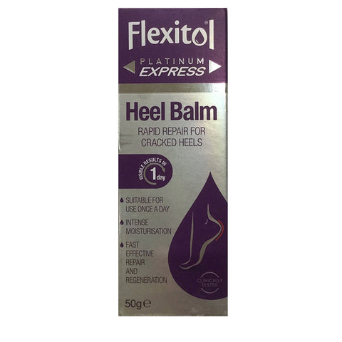 Flexitol Heel Balm Platinum for Cracked Heels - Visible Results in 1 Day - 50g