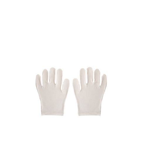 Jasmine Bamboo Moisturising Gloves for dry hands and eczema - one size, unisex, white