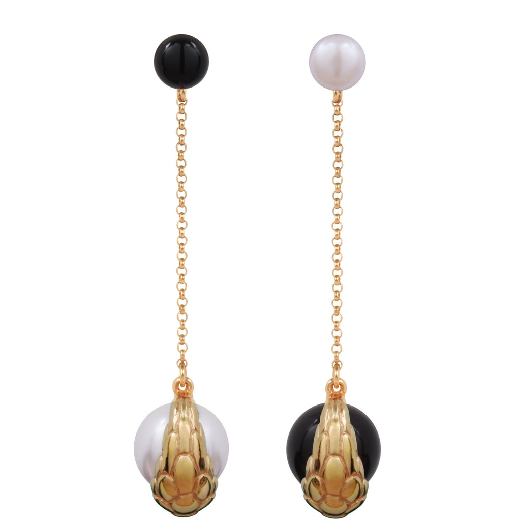 Nocturnal Earring Long Chain Gold (L)