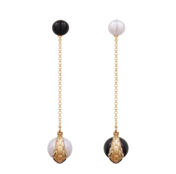 Nocturnal Earring Long Chain Gold (S)