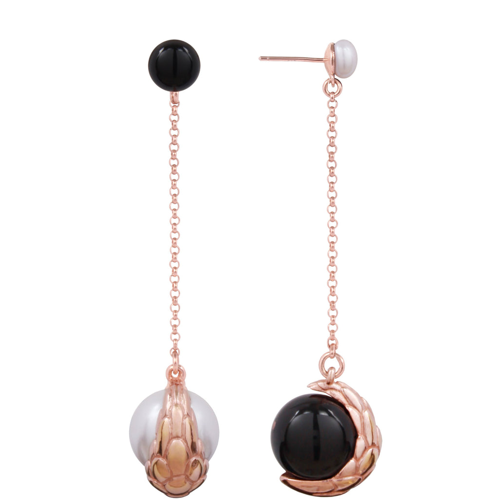 Nocturnal Earring Long Chain Rose (L)