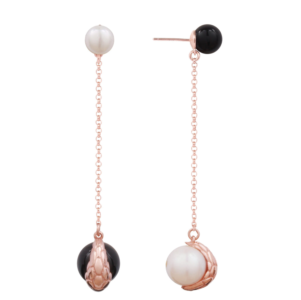 Nocturnal Earring Long Chain Rose (S)
